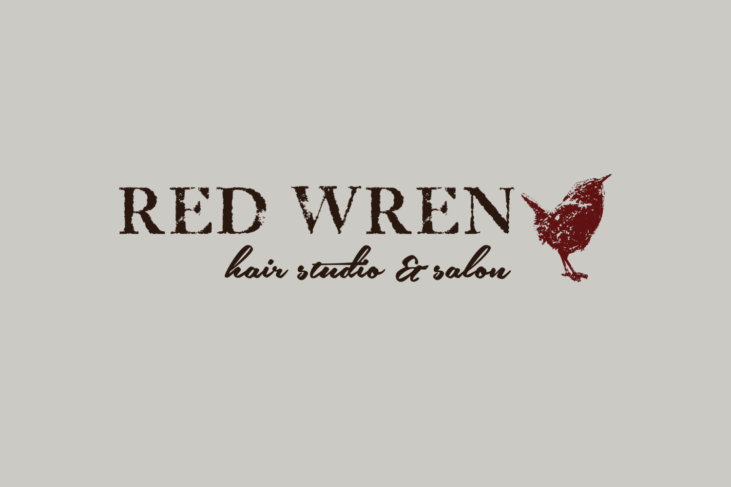 Red Wren Hair Studio & Salon logo design & brand identity by A LA MODE designs