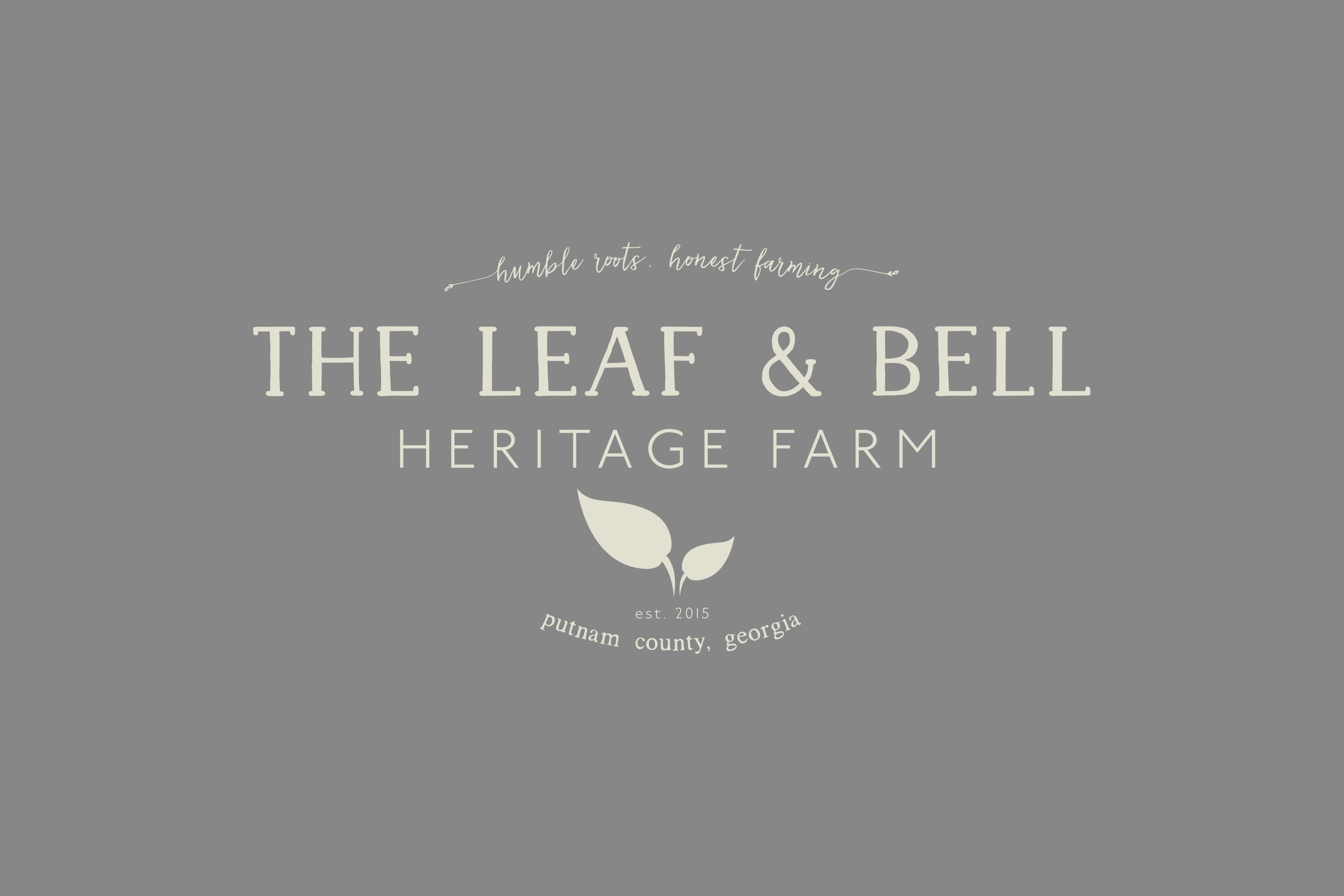 The Leaf & Bell Logo Design & Brand Identity by A LA MODE designs. Akron, Canton, Cleveland, Columbus, Ohio