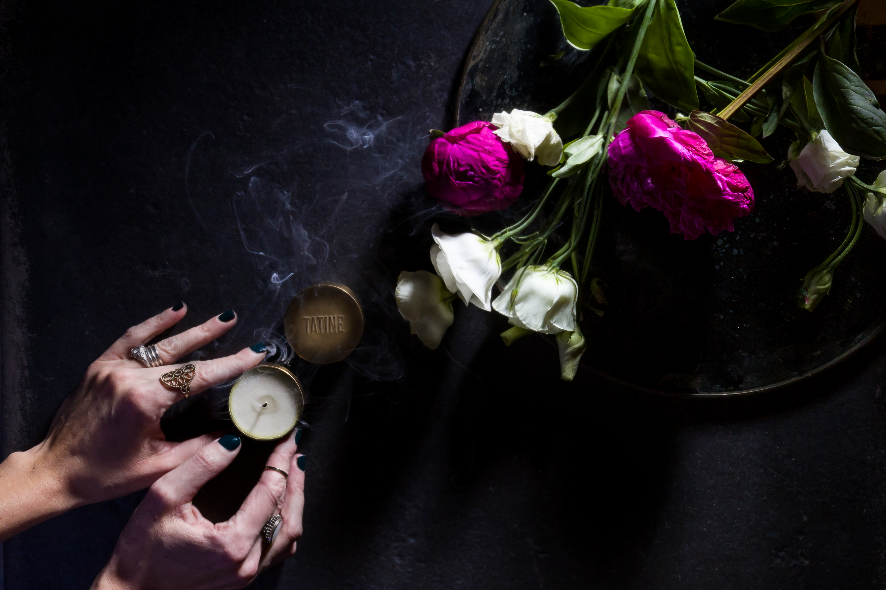 Tatine Manufactory Candle Hands Lifestyle Photography Rebecca Matt Snyder Alamode Designs Canton Columbus Chicago